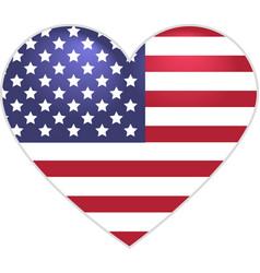 Symbol US flag heart shape vector image