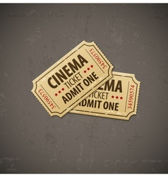 Two old cinema tickets for vector image vector image