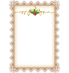 vintage christmas page vector image