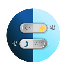 day and night concept circular image on vector image
