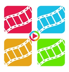 Film tape icons vector image vector image