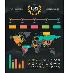 Flat Infographic Set 1 vector image vector image