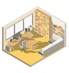 isometric design of a home office vector image