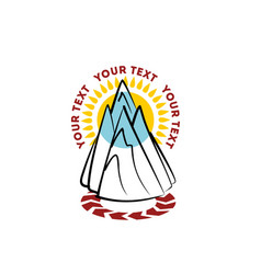 mountain hand drawn logo template vector image vector image