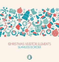 New Year and Christmas seamless border Christmas vector image