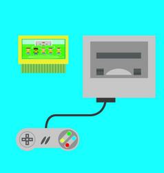 retro video game console vector image