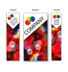 banners with abstract background Modern vector image