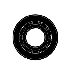 black bearing on a white vector image