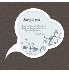 floral speech bubble dark vector image