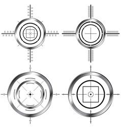 gun sights vector image
