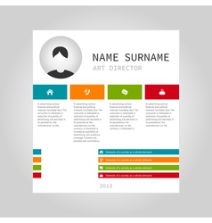 Info graphic person vector image vector image