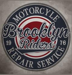 Motorcycle custom motorcycle label vintage vector