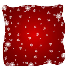 red winter abstract background vector image