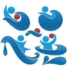water actions vector image vector image