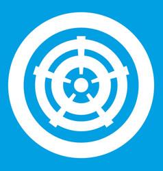 Car wheel icon white vector