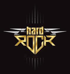 Gold and silver Hard Rock badge - original vector image vector image