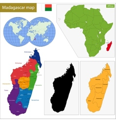 Madagascar map vector image vector image