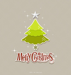 Modern christmas tree design vector image