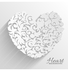Abstract ornament heart background concept vector
