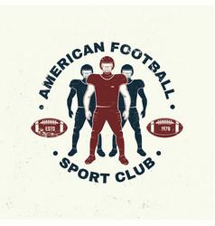 american football or rugclub badge vector image