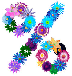 Beautiful decorative symbol percentage of differen vector