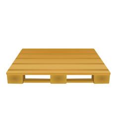 Brown wooden pallet vector