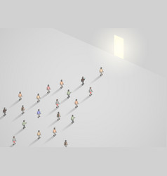 business concept of crowd of people vector image