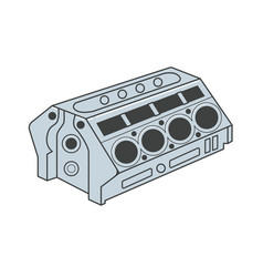Car engine block vector