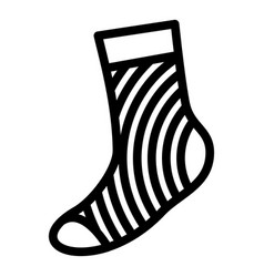 casual sock icon simple style vector image