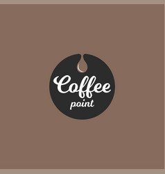 coffee logo with coffee drop background vector image