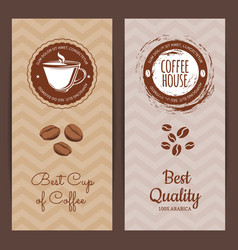 Coffee shop or brand logo banner vector