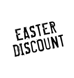 Easter Discount rubber stamp vector image