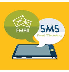 Email design over yellow background vector