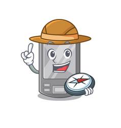 Explorer personal digital assistant with mascot vector