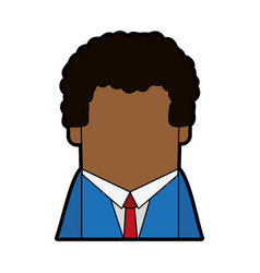 Faceless dark skin businessman avatar icon image vector