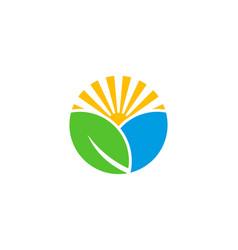 Field wellness logo icon design vector