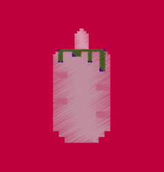 Flat shading style icon pixel french hot dog vector