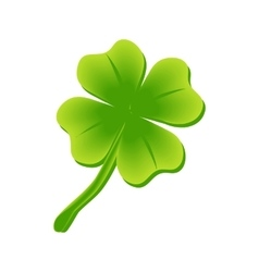 four leaf clover St Patricks day vector image