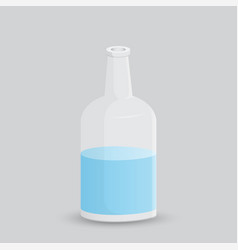 glass bottle with water on a white background vector image