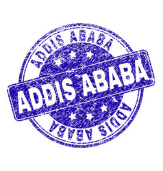 Grunge textured addis ababa stamp seal vector