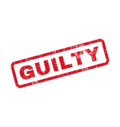 Guilty text rubber stamp vector