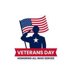 Happy veterans day honoring all who served retro vector