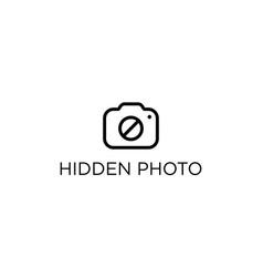 Hidden photo logo design concept vector