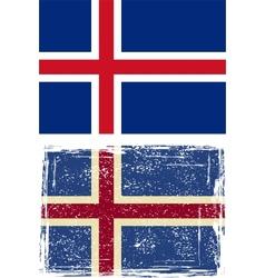 Icelandic grunge flag vector