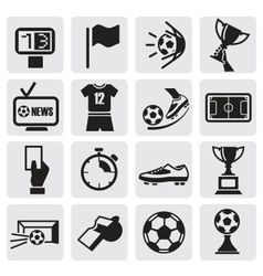 Icons set soccer vector