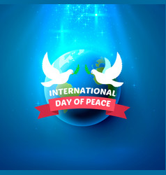 international peace day vector image