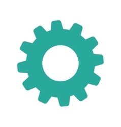 Isolated gear symbol vector image