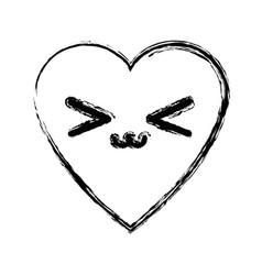 kawaii heart love romance passion adorable symbol vector image