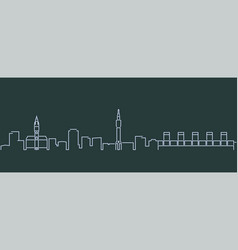 lille single line skyline profile vector image