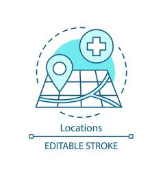 Locations concept icon vector